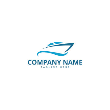 sail boat logo template, design concept vector. Ship Logo.