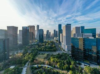 Keuken foto achterwand Chicago city skyline in hangzhou china
