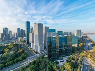 Wall Mural - city skyline in hangzhou china