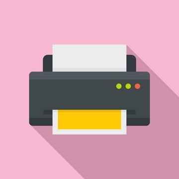 Home printer icon. Flat illustration of home printer vector icon for web design