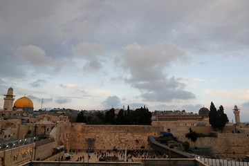 A general view picture shows the Dome of the Rock , the Western Wall and al-Aqsa mosque in Jerusalem's Old City