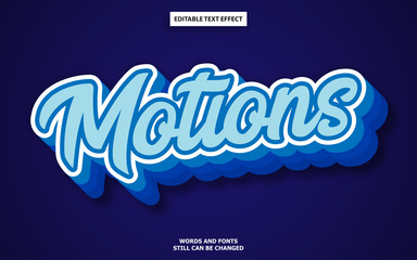 Wall Mural - Motions editable text style effect