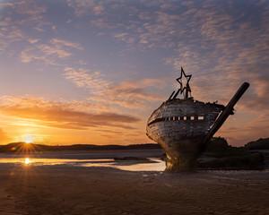 Printed kitchen splashbacks Shipwreck Bad Eddie, Bunbeg, Co Donegal, Ireland