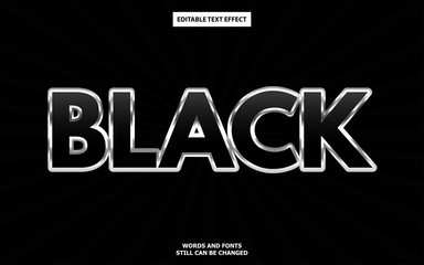 Wall Mural - Luxury black editable text effect