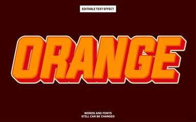 Wall Mural - Orange editable text effect