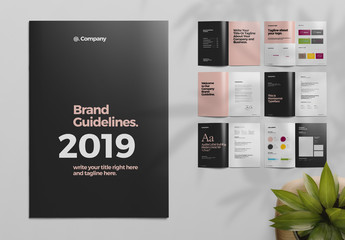 Black and Pink Brand Guideline Brochure Layout