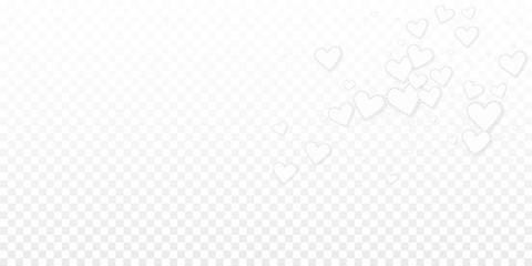 White heart love confettis. Valentine's day explos