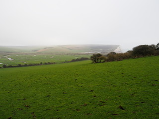 Winter landscape over Sussex Downs