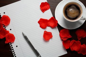 Obraz List miłosny z okazji walentynek  - fototapety do salonu