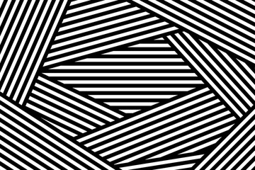 Vector illustration with geometric abstract pattern with parallel lines. Trendy background in op art style, optical illusion.