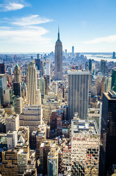 Aerial view of Manhattan and the Empire State Building