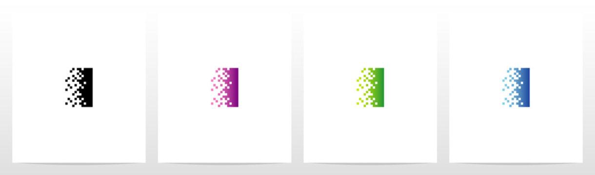Pixel Eroded On Letter Logo Design I