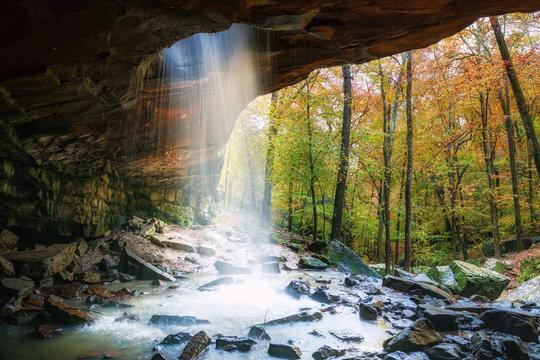 Glory Hole Falls Arkansas in autumn