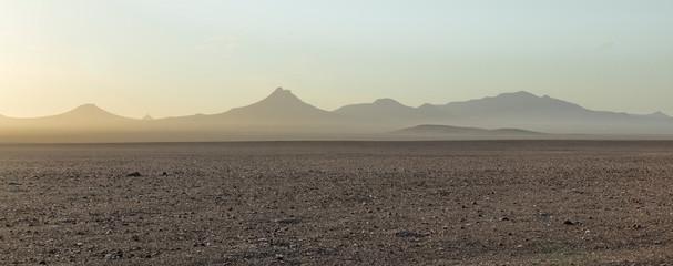 Fototapeta SCENIC VIEW OF DESERT AGAINST SKY DURING SUNSET