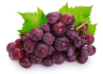 Fototapete - Fresh grape on white background