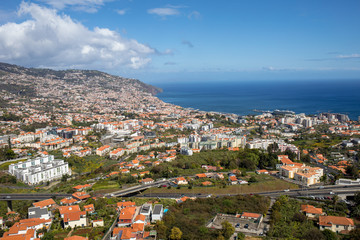 Panoramic view of Funchal on Madeira Island. Portugal Fototapete