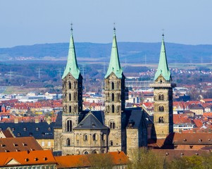 View to Dome of Bamberg Germany