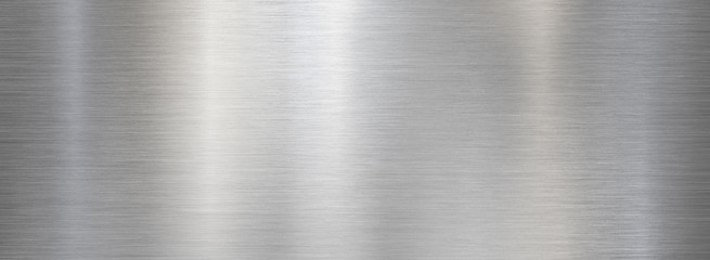 Fine brushed wide metal steel or aluminum plate