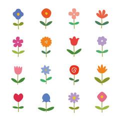 花 草花 北欧 手描き アイコン