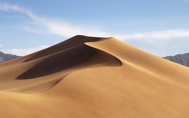 Fototapeta Sand Dunes On Desert Against Sky