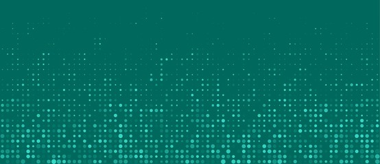 turquoise halftone dots empty background