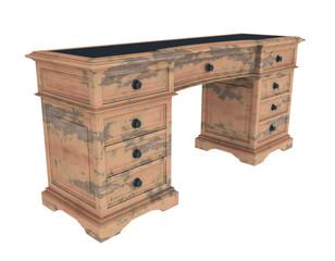 Antiker Schreibtisch, Freisteller