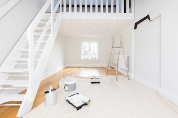 Painting and decorating a room