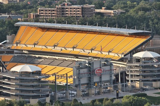 PITTSBURGH, USA - JUNE 30, 2013: Heinz Field view in Pittsburgh. It is primarily stadium of famous Pittsburgh Steelers football team.