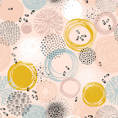 Wall Mural - Creative seamless pattern. For fashion kid's wear, T-shirts, posters, cards, scrapbooking, birthday and party invitations.