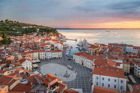 View over Piran old town, Slovenia