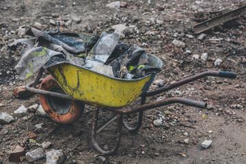 Wheelbarrow On Land