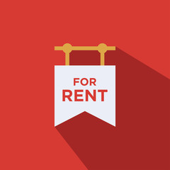house for rent flat vector icon - ui icon vector