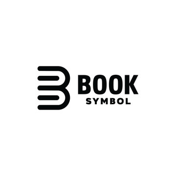 Book logo design vector template with flat color Concept style. Letter B for Book Symbol and document icon for Web, learning, library, Software, bookstore, information, Company And Business.