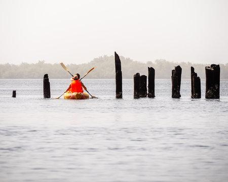 Kayak in the Delta du Saloum, Senegal
