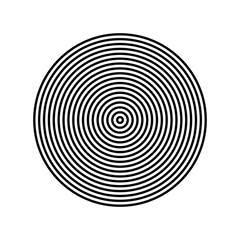 Concentric circle element. Black and white color ring. Abstract vector illustration for sound wave, Monochrome graphic. Concentric Circle Elements. Background. Abstract circle pattern. Black and white