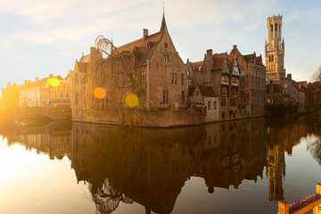 Medieval houses on a channel, Bruges
