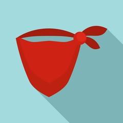 Cowboy bandana icon. Flat illustration of cowboy bandana vector icon for web design