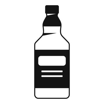 Whiskey bottle icon. Simple illustration of whiskey bottle vector icon for web design isolated on white background