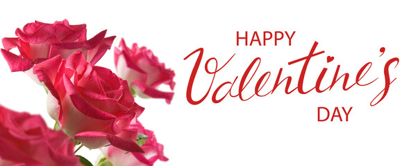 Image of a beautiful greeting card.Valentine's Day..Beautiful festive flowers close-up.