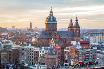 Printed kitchen splashbacks Amsterdam Sunset in Amsterdam