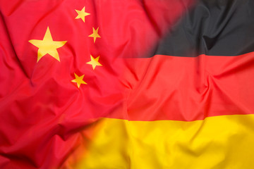 Flag of Chinese Republic and flag of Germany