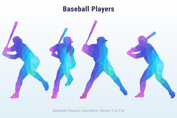 Baseball Players in Geometric Vector