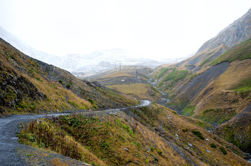 View of the path to the Abano Pass, Georgia