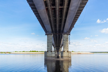 View of the bridge over the Volga in Tatarstan