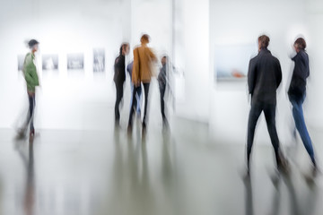 people in the art gallery center