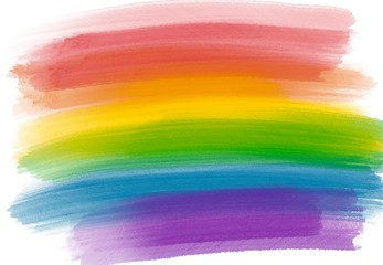 Rainbow Flag as Background, watercolor Rainbow Colors Gay and Lesbian LGBT Flag