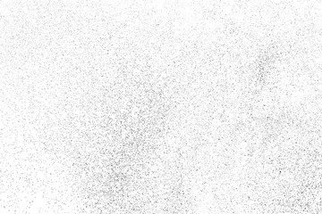 Black Grainy Texture Isolated On White Background. Dust Overlay. Dark Noise Granules. Digitally Generated Image. Vector Design Elements, Illustration, Eps 10.