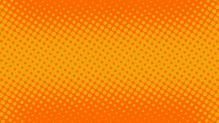 Orange pop art background in retro comic book style with halftone dotted design, vector illustration eps10