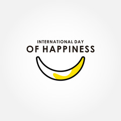 International Day Of Happiness Vector Design For Banner or Background