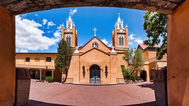 San Felipe de Neri Parish Church in the old town of Albuquerque